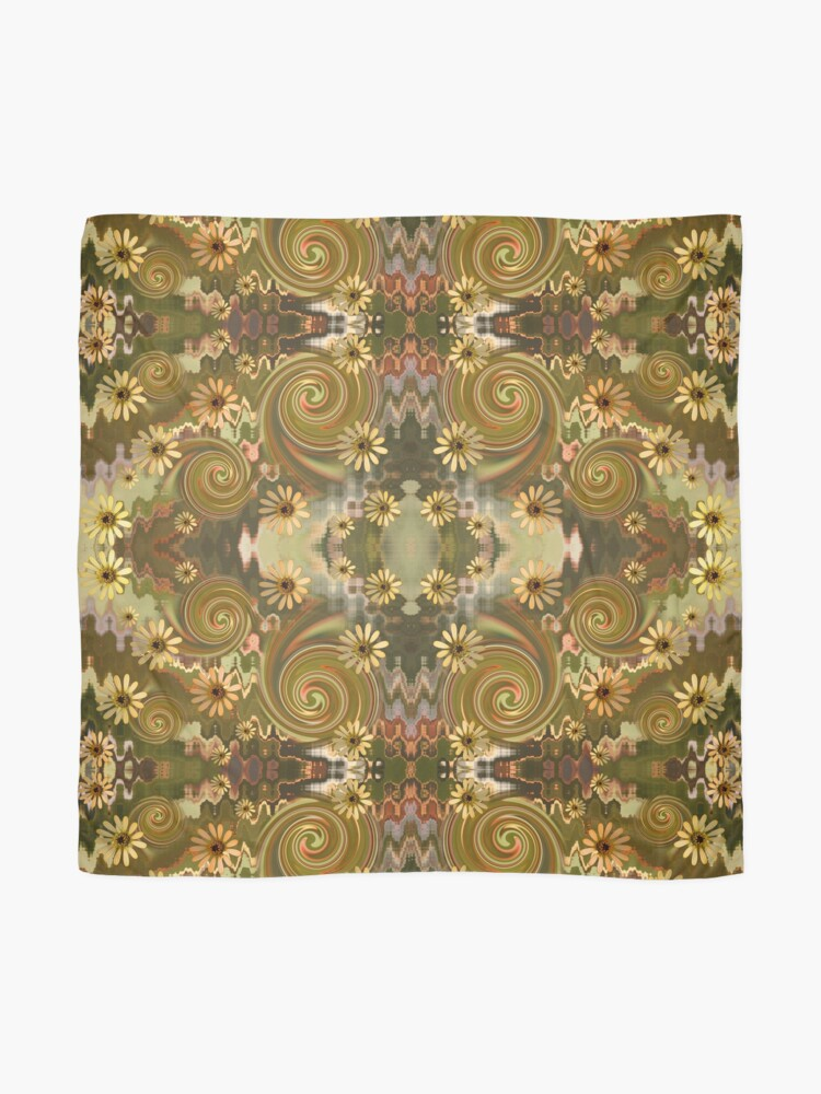 Alternate view of Daisy & Spirals fabric Scarf