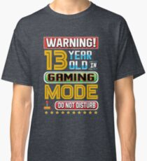 Funny 13th Gamer Birthday 13 Year Old Gaming Gifts Classic T-Shirt