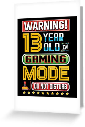Funny 13th Gamer Birthday 13 Year Old Gaming Gifts
