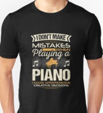 Piano Player Mistakes Slim Fit T-Shirt