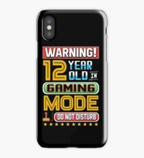 Funny 12th Gamer Birthday Boy Girl Teen Gaming Gifts iPhone Case/Skin