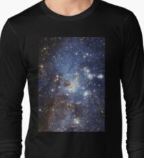 Blue Galaxy Long Sleeve T-Shirt