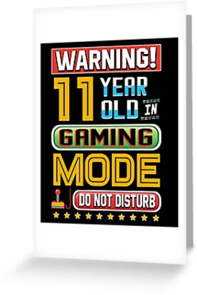Funny 11th Gamer Birthday 11 Year Old Gaming Gifts
