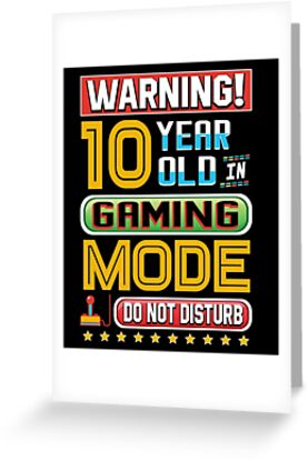 Funny 10th Gamer Birthday Ten Year Old Gaming Gifts