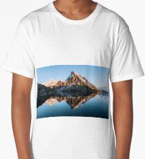 Calm mountain lake at dusk - Landscape Photography Long T-Shirt