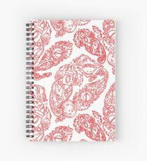 Cosmic Paisley red Spiral Notebook