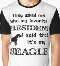 Funny Beagle Holiday Gift Graphic T-Shirt