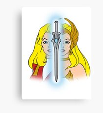 She-Ra Princess of Power - Adora/She-Ra/Sword - Color Canvas Print
