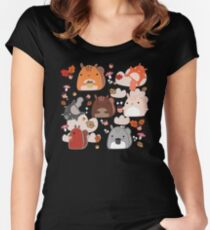 Kawaii Squirrels Women's Fitted Scoop T-Shirt