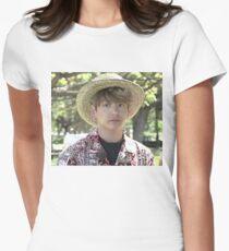 Jungkook Hawaii Meme  Women's Fitted T-Shirt