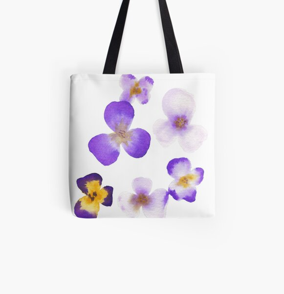 purple orchid All Over Print Tote Bag