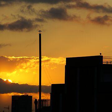 Barcelona's sunrise by millotaurus