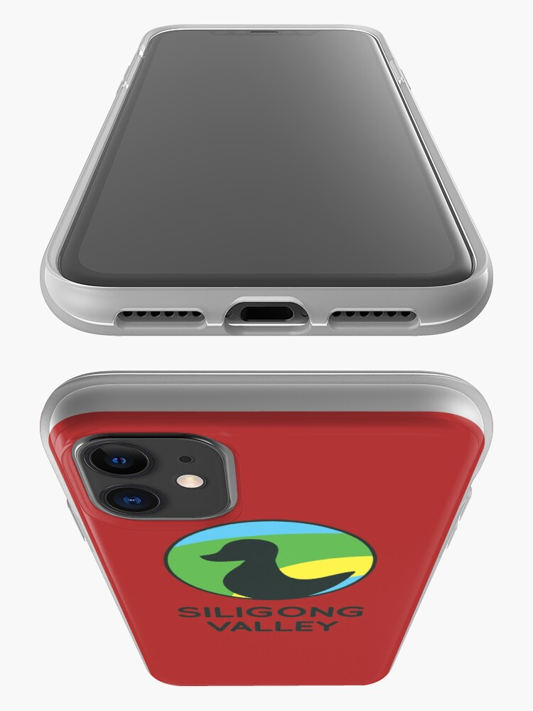 Alternate view of Siligong Valley logo w/text black iPhone Case & Cover