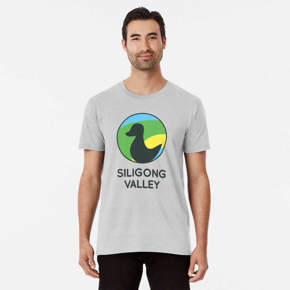 Siligong Valley logo w/text black Premium T-Shirt