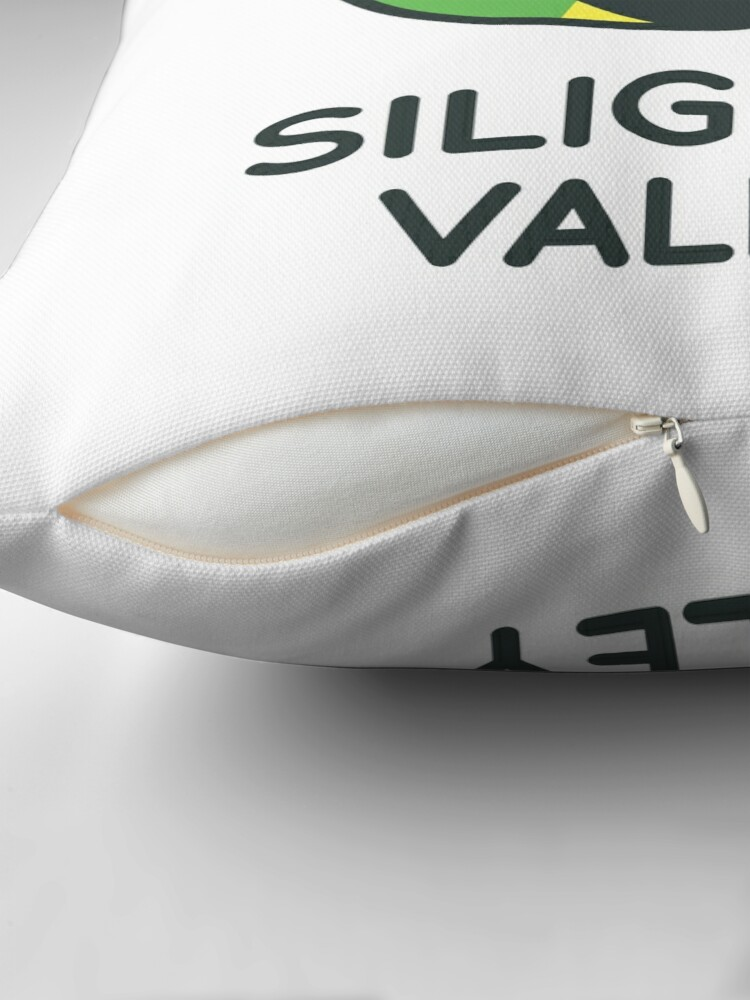 Alternate view of Siligong Valley logo w/text black Floor Pillow