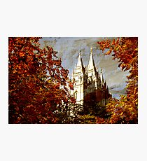 Salt Lake Temple - Autumn Season Photographic Print