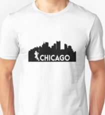 Chicago 26.2 miles Marathon Runner  Slim Fit T-Shirt