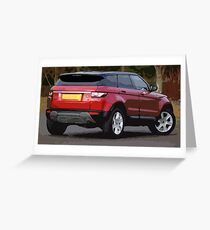 a Red Small SUV with Simple Design Greeting Card