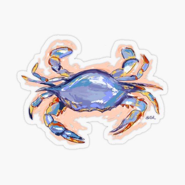 Blue Crab  Transparent Sticker