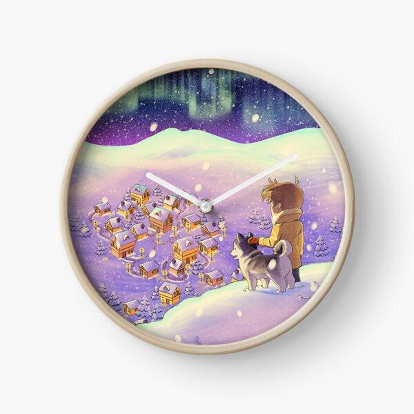 Christmas Aurora Borealis Reloj
