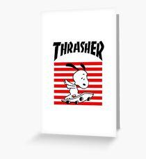 Snoopy Skateboard Greeting Card