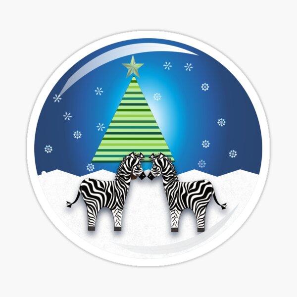 ZEBRA CHRISTMAS. Sticker