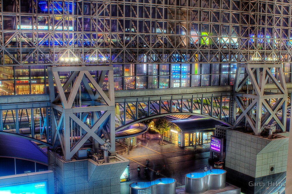 Night View from Kyoto Station by Garth  Helms