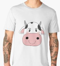 cute cow animation face | redbubble Men's Premium T-Shirt