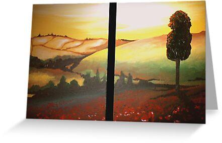 Sunset Landscape by Cherie Roe Dirksen