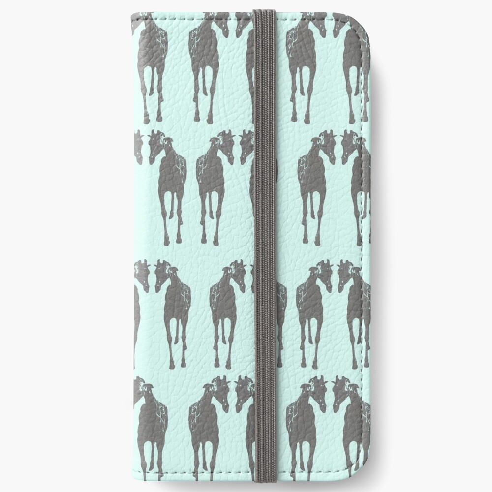 Sticking his neck out, blue iPhone Wallet