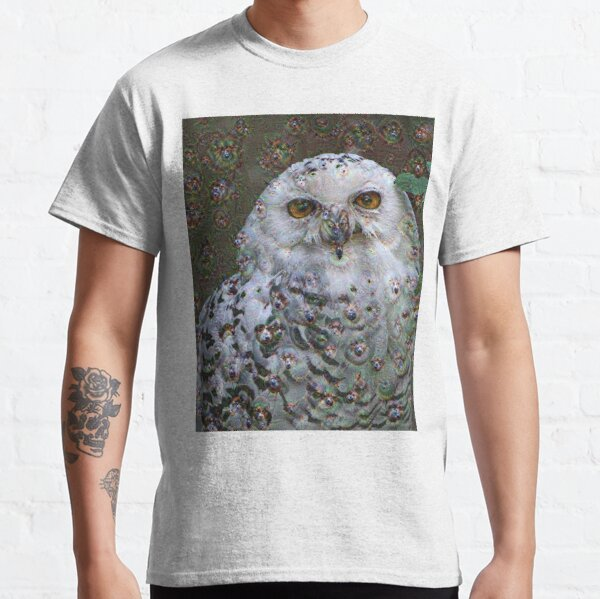 Dream Creatures, Snowy Owl 001, DeepDream (Schnee-Eule) Classic T-Shirt