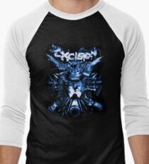 Excision (Artillery Blue) Men's Baseball ¾ T-Shirt