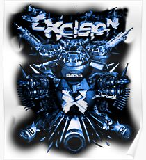 Excision (Artillery Blue) Poster