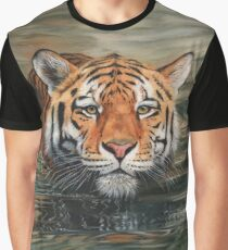 Tiger Swimming Graphic T-Shirt