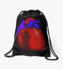 Living With Ghosts Drawstring Bag