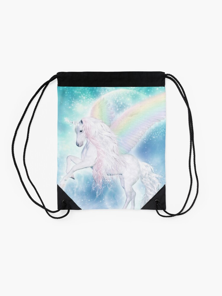 Alternative Ansicht von Rainbow Pegasus Turnbeutel