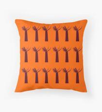 Cojín Baobabs marrones en naranja