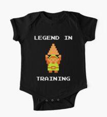 """""""Legende im Training"""" Zelda inspiriert Strampelanzug Baby Body Kurzarm"""