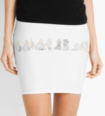 Princesses Inspired Silhouettes Mini Skirt