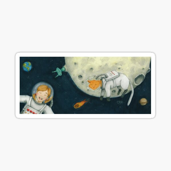 Let's play astronauts! Sticker