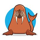 Walrus by DocHackenbush