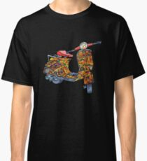 Vespa scooter Jackson Pollock  Classic T-Shirt