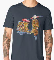 Vespa scooter Jackson Pollock T-shirt premium homme