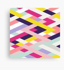 Smart Diagonals Blue Canvas Print