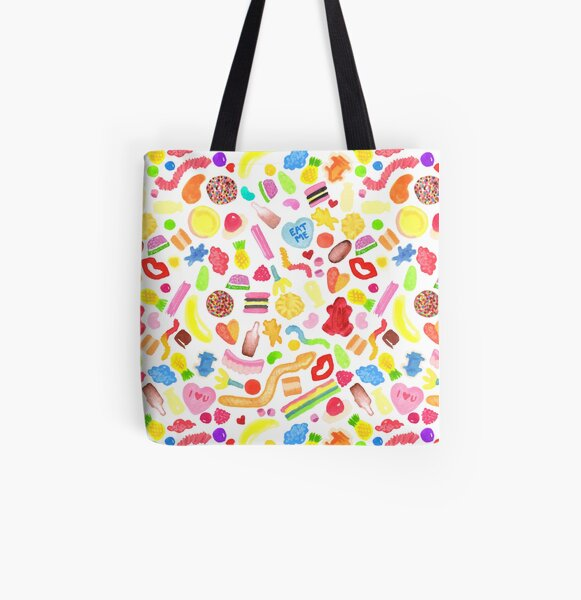 Mixed Lollies All Over Print Tote Bag