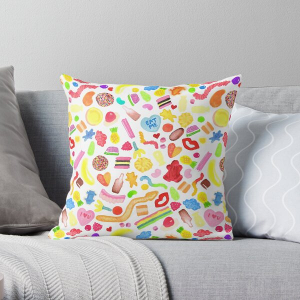 Mixed Lollies Throw Pillow