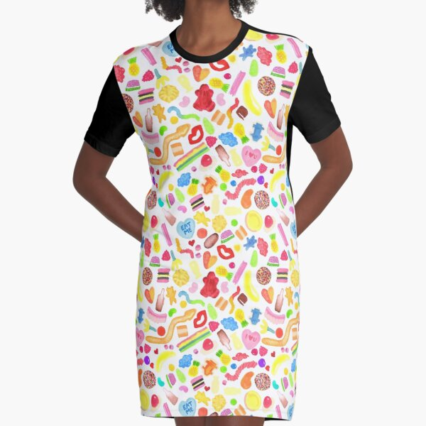 Mixed Lollies Graphic T-Shirt Dress