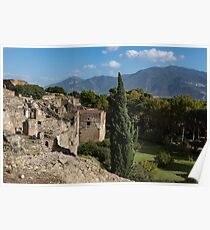 A Fine Italian Afternoon - Ancient Pompeii Ruins From a Verdant Park Poster