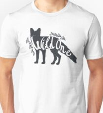 """""""Wild One"""" Fox or Wolf Silhouette T-Shirt"""