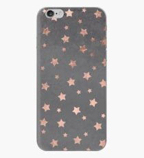 rose gold Christmas stars geometric pattern cement iPhone Case